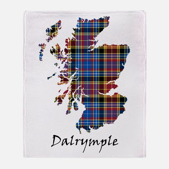 Map - Dalrymple Throw Blanket