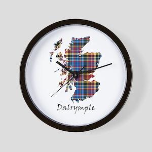 Map - Dalrymple Wall Clock