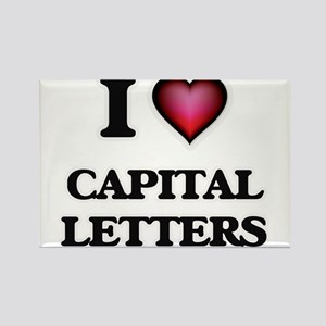 I love Capital Letters Magnets