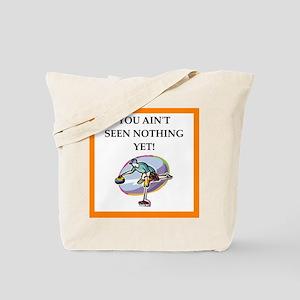 Curling joke Tote Bag