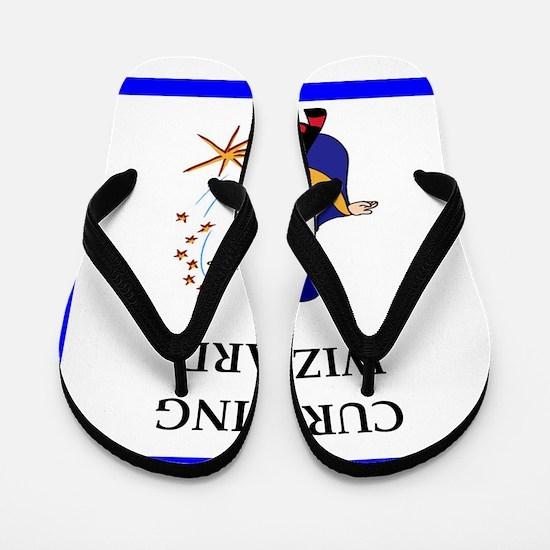 Curling joke Flip Flops