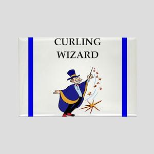 Curling joke Magnets