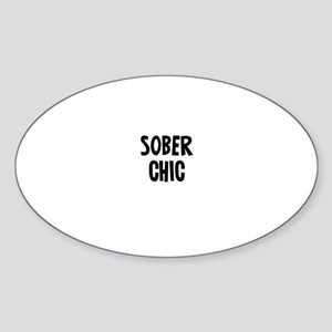 Sober Chic Oval Sticker
