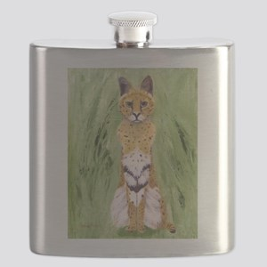 Serval Cat Flask