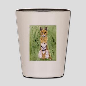 Serval Cat Shot Glass