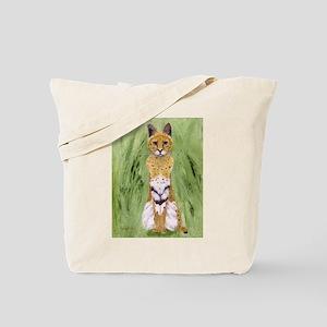 Serval Cat Tote Bag