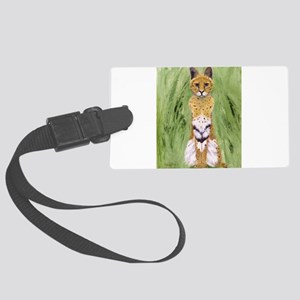 Serval Cat Luggage Tag