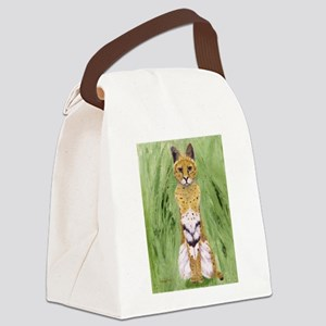 Serval Cat Canvas Lunch Bag