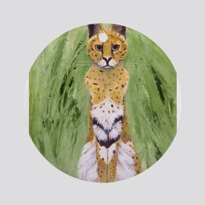 Serval Cat Round Ornament