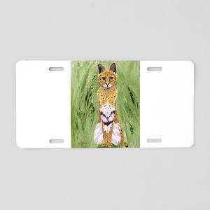 Serval Cat Aluminum License Plate