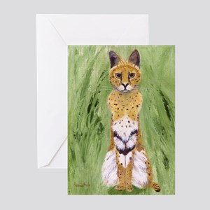 Serval Cat Greeting Cards