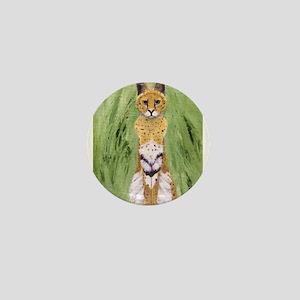 Serval Cat Mini Button