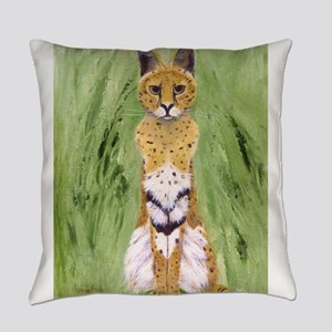 Serval Cat Everyday Pillow