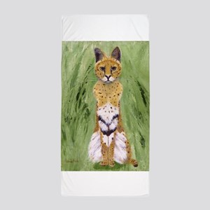Serval Cat Beach Towel