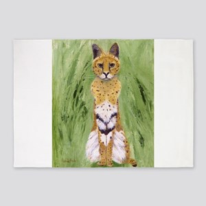 Serval Cat 5'x7'Area Rug