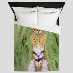 Serval Cat Queen Duvet