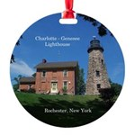 Charlotte Genesee Lighthouse Round Ornament