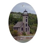 Grand Island East Channel Lighthouse Oval Ornament