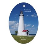 Fort Gratiot Lighthouse Oval Ornament