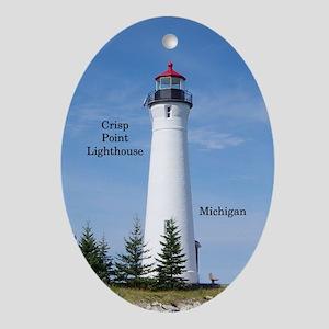 Crisp Point Lighthouse Oval Ornament