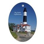 Big Sable Lighthouse Oval Ornament