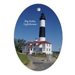 Big Sable Lighthouse Oval Ornament