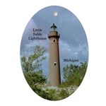 Little Sable Lighthouse Oval Ornament