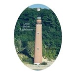 Little Sable Lighthouse From Water Oval Ornament