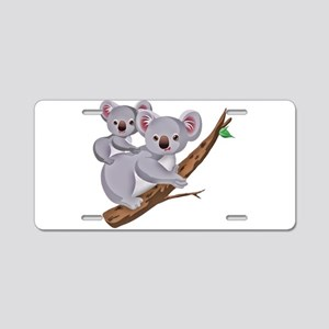 Koala Bear and Baby in Tree Aluminum License Plate
