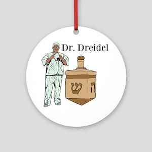 Dr. Dreidel Round Ornament