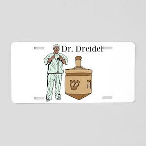 Dr. Dreidel Aluminum License Plate