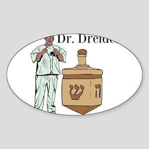Dr. Dreidel Sticker (Oval)