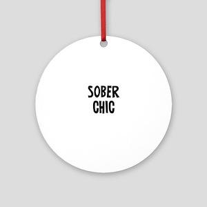 Sober Chic Ornament (Round)