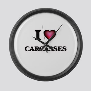 I love Carcasses Large Wall Clock