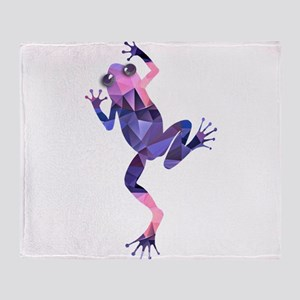 Mosaic Polygon Climbing Tree Frog Throw Blanket