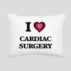 I love Cardiac Surgery Rectangular Canvas Pillow