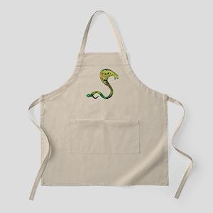 Mosaic Polygon Cobra Snake Green and Gold Apron