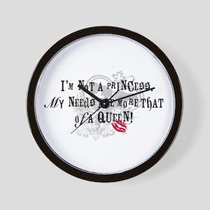 Not A Princess T-shirts and G Wall Clock