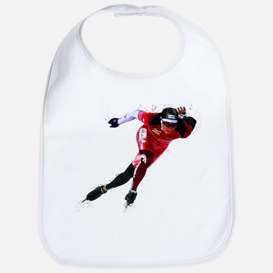 Speed Skater in Red Bib