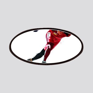 Speed Skater in Red Patch