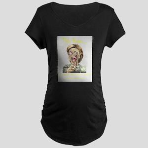 Zombie Hillary Clear Maternity T-Shirt