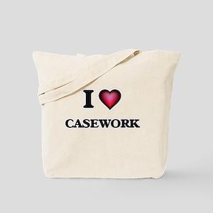 I love Casework Tote Bag