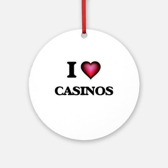 I love Casinos Round Ornament