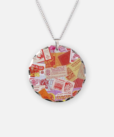 Circus Tickets - Pink Necklace