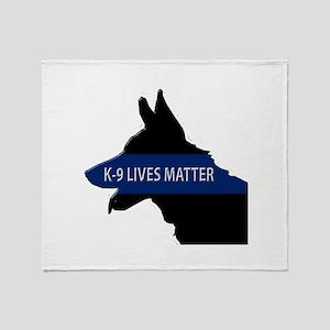 K-9 Lives Matter Throw Blanket