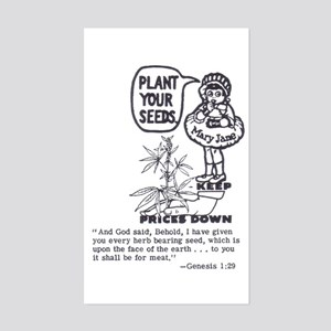 PLANT YOUR SEEDS Rectangle Sticker