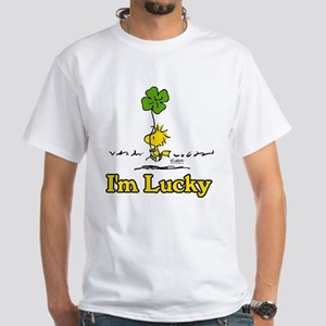 Peanuts Woodstock Lucky Men's Classic T-Shirts