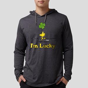 Peanuts Woodstock Lucky Mens Hooded Shirt