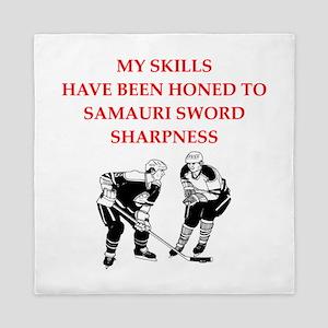 Hockey joke Queen Duvet