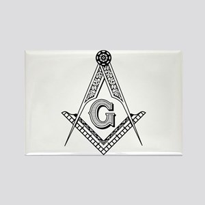 Masonic Symbol Rectangle Magnet